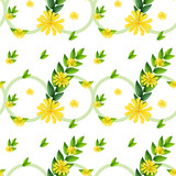 A template with yellow flowers
