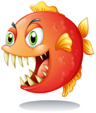 An orange piranha