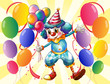 A clown holding balloons