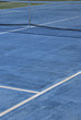 Tennis court painted in blue