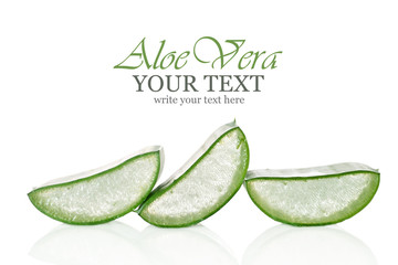 Fresh cut Aloe Vera slices