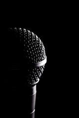 Black Microphones Head In Detail
