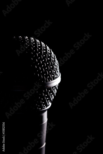 Black Microphones Head In Detail