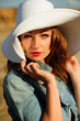 attractive, beauty, face, girl, looking, hat, natural,