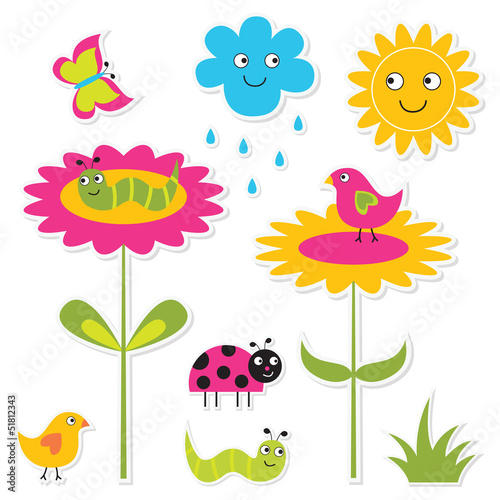 Naklejka Nature stickers set