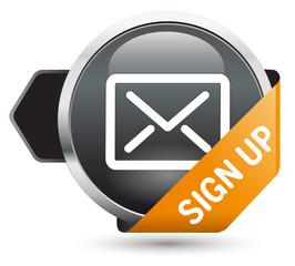 Button Newsletter grau Sign up