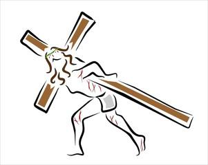 jesucrito con la cruz