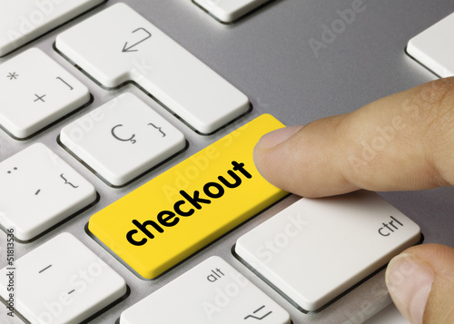 checkout keyboard key finger