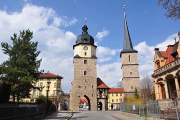 Arnstadt - Riedtor und Jacobsturm