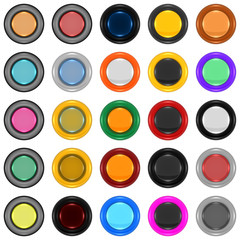 Series of round icons or buttons