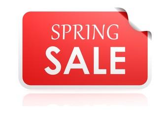 Spring sale sticker