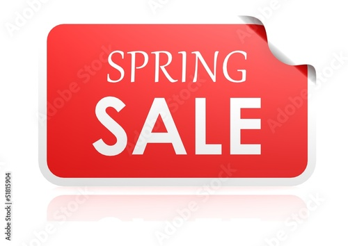 Spring sale sticker