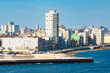 View of the Havana skyline facing the sea