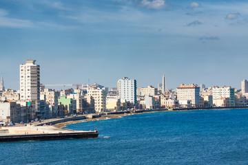 The Havana skyline facing the sea