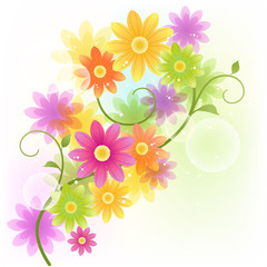 花 背景 Vector Gerbera flower background