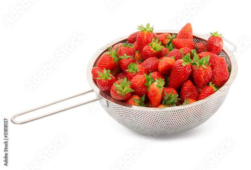 fragole fresche appena lavate