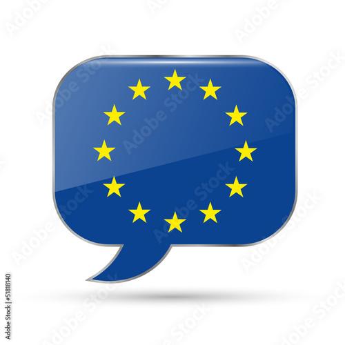 Europe speak bubble
