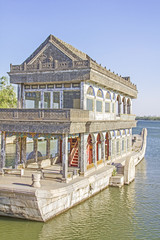 The Marble Boat of Purity and Ease, Summer Palace, Beijing, Chin