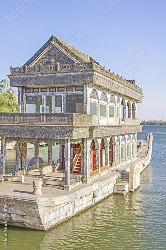 Foto op Aluminium Beijing The Marble Boat of Purity and Ease, Summer Palace, Beijing, Chin