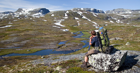 Wanderer in der Hardangervidda