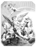 Glorious Angel : Goddess Aurora - Art 17th century