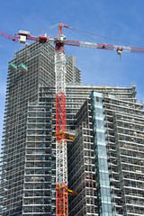 Cantiere di costruzione a Milano