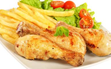 Detalle de menú de pollo.