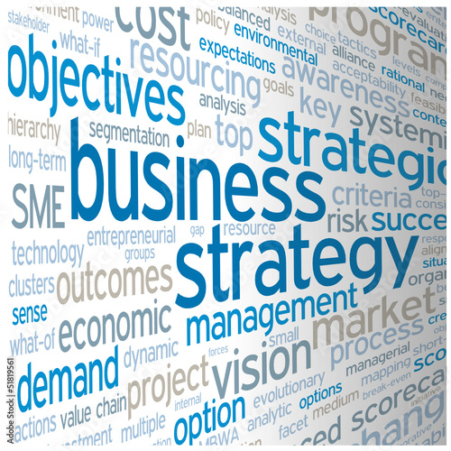 """BUSINESS STRATEGY"" Tag Cloud (leadership competition success)"