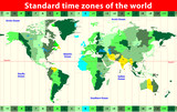 Time zones. vector map