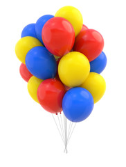 Colorful Balloons isolated. Design element