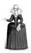 Dame - French Mode/Fashion (ca 1600)
