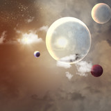 Image of planets in space