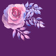 Watercolor Purple Rose