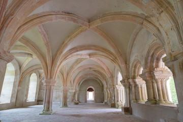 voûte croisée d'ogive - salle capitulaire - Abbaye de Fontenay