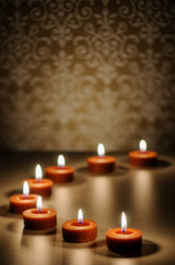 Meditative Candle Abstract