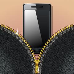 Smartphone and zipper