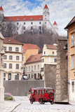 Stary Hrad - ancient castle and vintage car