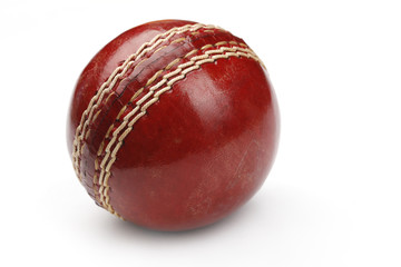 Cricket Ball Isolated On White Background