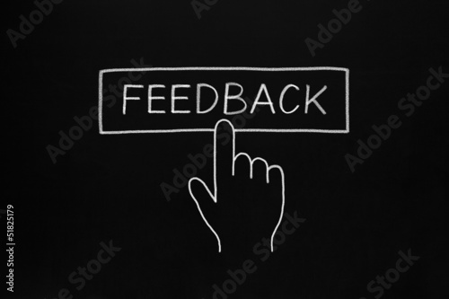 Hand Clicking Feedback Button
