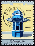 Postage stamp Portugal 1985 Blue Mall Kiosk