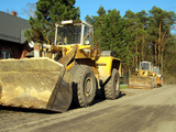 Old earthmoving and road construction