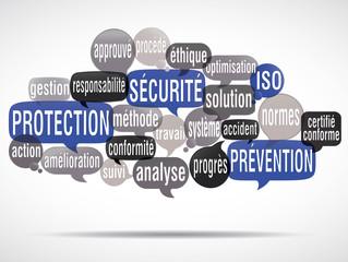 nuage de mots : sécurité protection