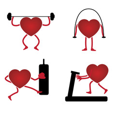 Heart icon in a gym