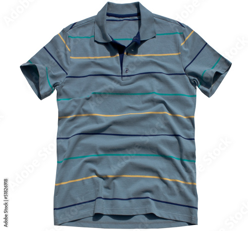 Polo shirt with isolated white background