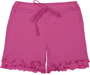 Elegant pink shorts isolated on white backround