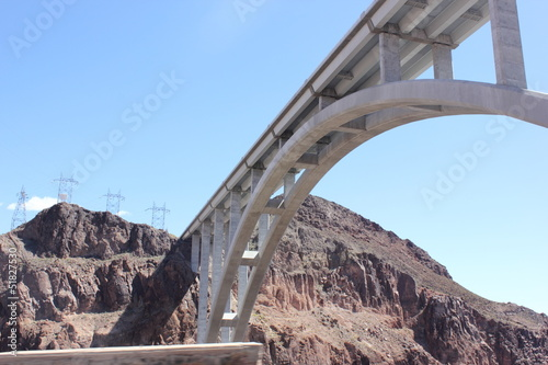 TheHoover Dam  bridge, between Arizona and Nevada -april 2013