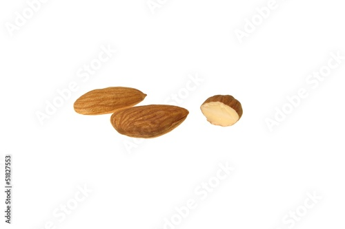 Almonds calories isolated