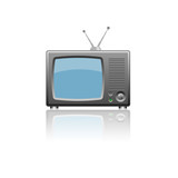 Television icon isolated on white background.