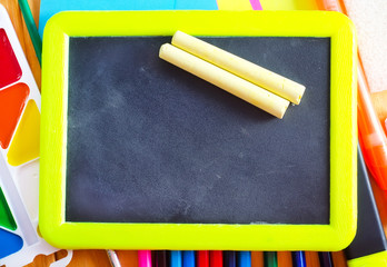 black board and chalk