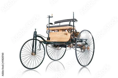 Oldtimer erstes Auto der Welt Carl Benz Wagen Auto Poster